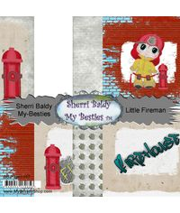 "Little Fireman Single-Sided Paper 6""X6"" 8/Pkg"