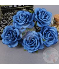 Royal Blue - Mulberry Curved Roses