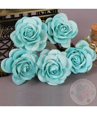 Mulberry Curved Roses - Sky Blue