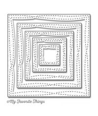 "Wonky Stitched Square, 1"" To 4"" - Die"