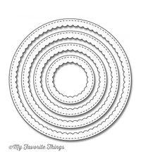 Stitched Circle Scallop Frames - Die