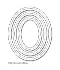 Single Stitch Line Oval Frames - Die