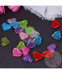 Mini Glitter Heart - Assorted Color