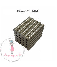 Neodymium Super Strong Magnets - 6 MM X 1.5 MM