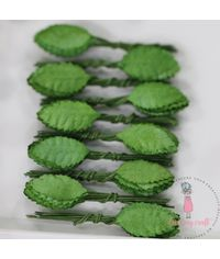 Micro Rose Leaves - Green