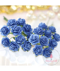 Micro Mini Roses - Royal Blue