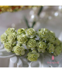 Micro Mini Roses - Lime Green