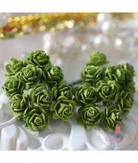 Micro Mini Roses - Dark Olive