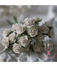 Micro Mini Roses - Ivory