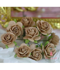 Micro Roses - Dull Brown