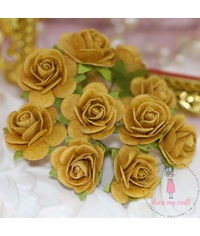Micro Roses - Mustard Yellow