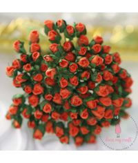 Micro Mini Rose Buds - Orange