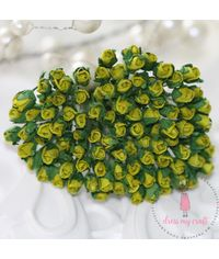 Micro Mini Rose Buds - Olive Green