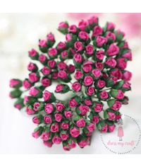 Micro Mini Rose Buds - Bright Pink