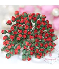 Micro Mini Rose Buds - Red