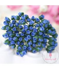 Micro Mini Rose Buds - Dark Blue