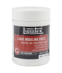 Liquitex Light Modeling Paste Acrylic Gel Medium - 8 Ounces