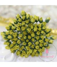 Micro Rose Bud - Olive Green
