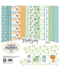 "Color Of Puppies Boy - 12""X12"" Paper Pad"