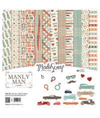 """Manly Man - 12""""X12"""" Paper Pad"""