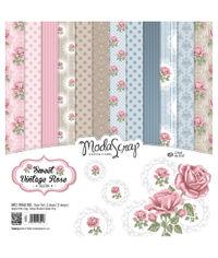 """Sweet Vintage Rose - 12""""X12"""" Paper Pad"""