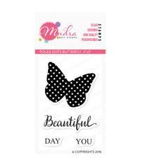 Polka Dot Butterfly - Stamp