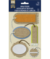 Burlap Stickers - Tags