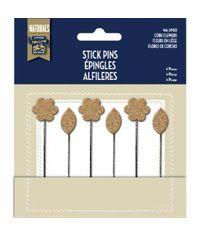 Cork Flowers - Stick Pins