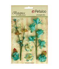 """Teal - Botanica Floral Ephemera 1"""" & 5"""""""