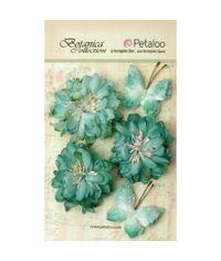 """Teal - Botanica Mums & Butterflies 2"""" - 2.5"""" 5/Pkg"""