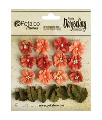 "Spice - Darjeeling Teastained Petite Flowers .625"" & .875"" 24/Pkg"