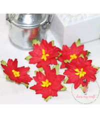 Poinsettia Flower Medium - Red