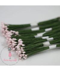 Round Shape Wire Pollen - Baby Pink