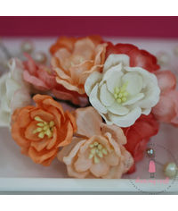 Poppy Rose - Peach and Orange