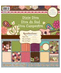 DIXIE DIVA 12x12 Paper Pad