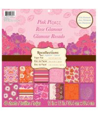 "Pink Pizzazz 12"" x 12"" Paper Pad"