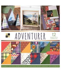 """Adventurer - 12""""X12"""" Double-Sided Paper Pad"""