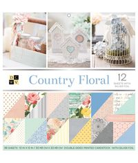 """Country Floral - 12""""X12"""" Double-Sided Paper Pad"""