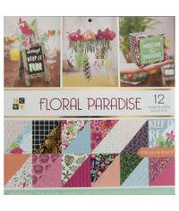 """Floral Paradise - 12""""x 12"""" Paper Pad"""