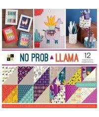 """No Prob Llama - 12""""X12"""" Paper Pad"""
