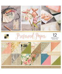 "Preserved Paper - 12""X12"" Paper Pad"