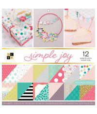 "Simple Joy - 12""X12"" Paper Pad"