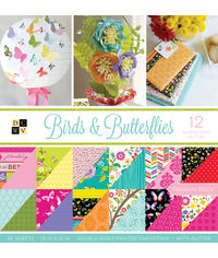"""Birds & Butterflies - 12""""X12"""" Paper Pad"""