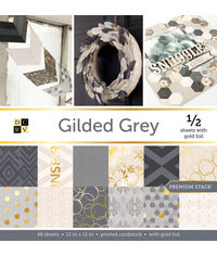 """Gilded Gray - 12""""X12"""" Paper Pad"""