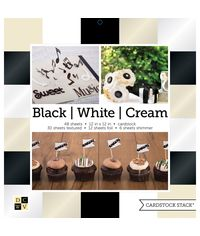 "Black, White & Cream Solids - 12""X12"" Paper Pad"