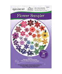 Flower Sampler Quilling Kit