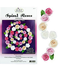 Spiral Roses (Pink/Ivory/White) Quilling Kit