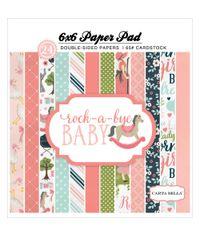 """Rock-A-Bye Baby Girl - Paper Pad 6""""X6"""" 24/Pkg"""