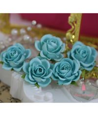 Curved Roses 35 MM - Blue