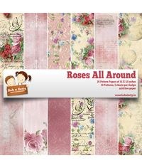 "Roses All Around  12""X12"", 36/pkg"